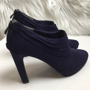 Coach and four N W O B suede purple shoe booties 8